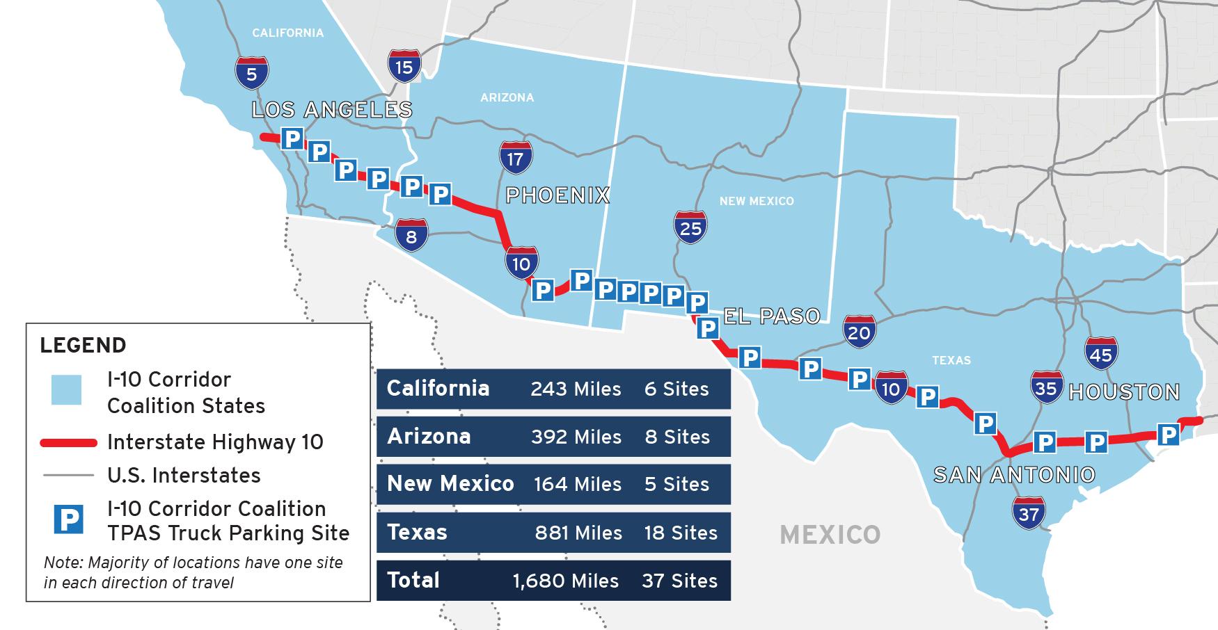 I-10 Corridor Coalition TPAS Map