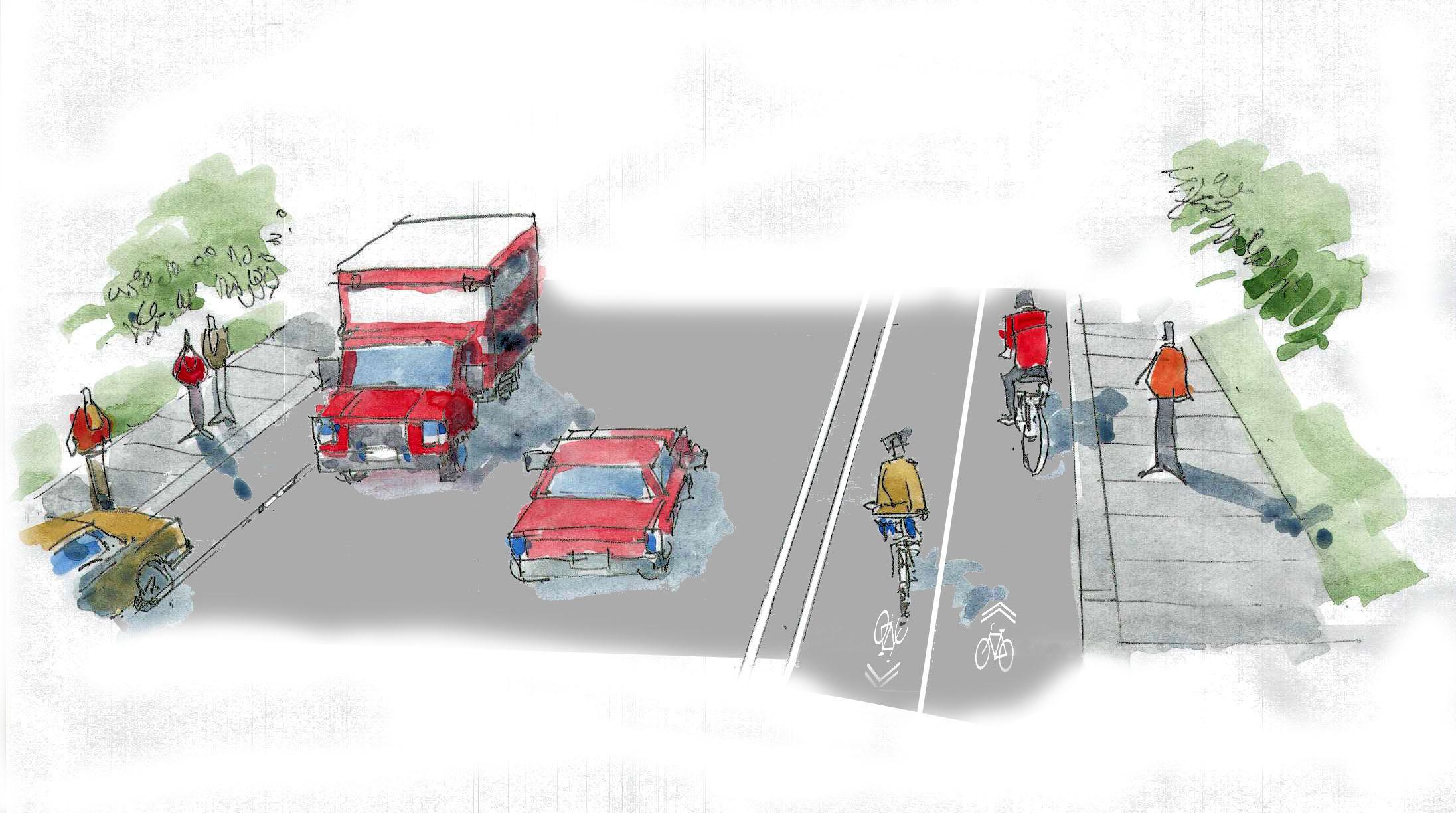 Two-Way Bike Lanes (Cycle Trak)