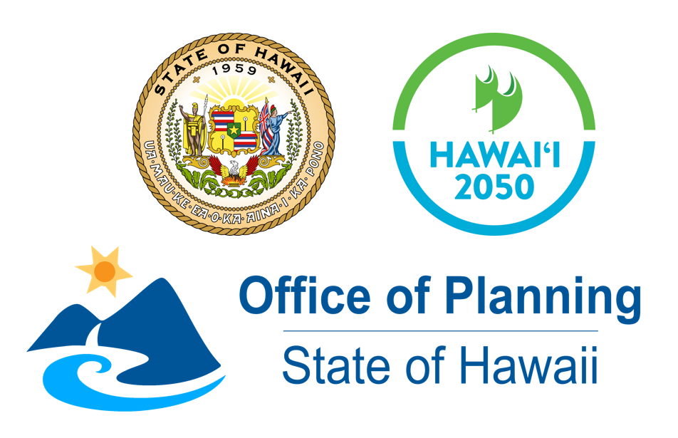 Logos for the Hawaii 2050 sustainability plan, Off