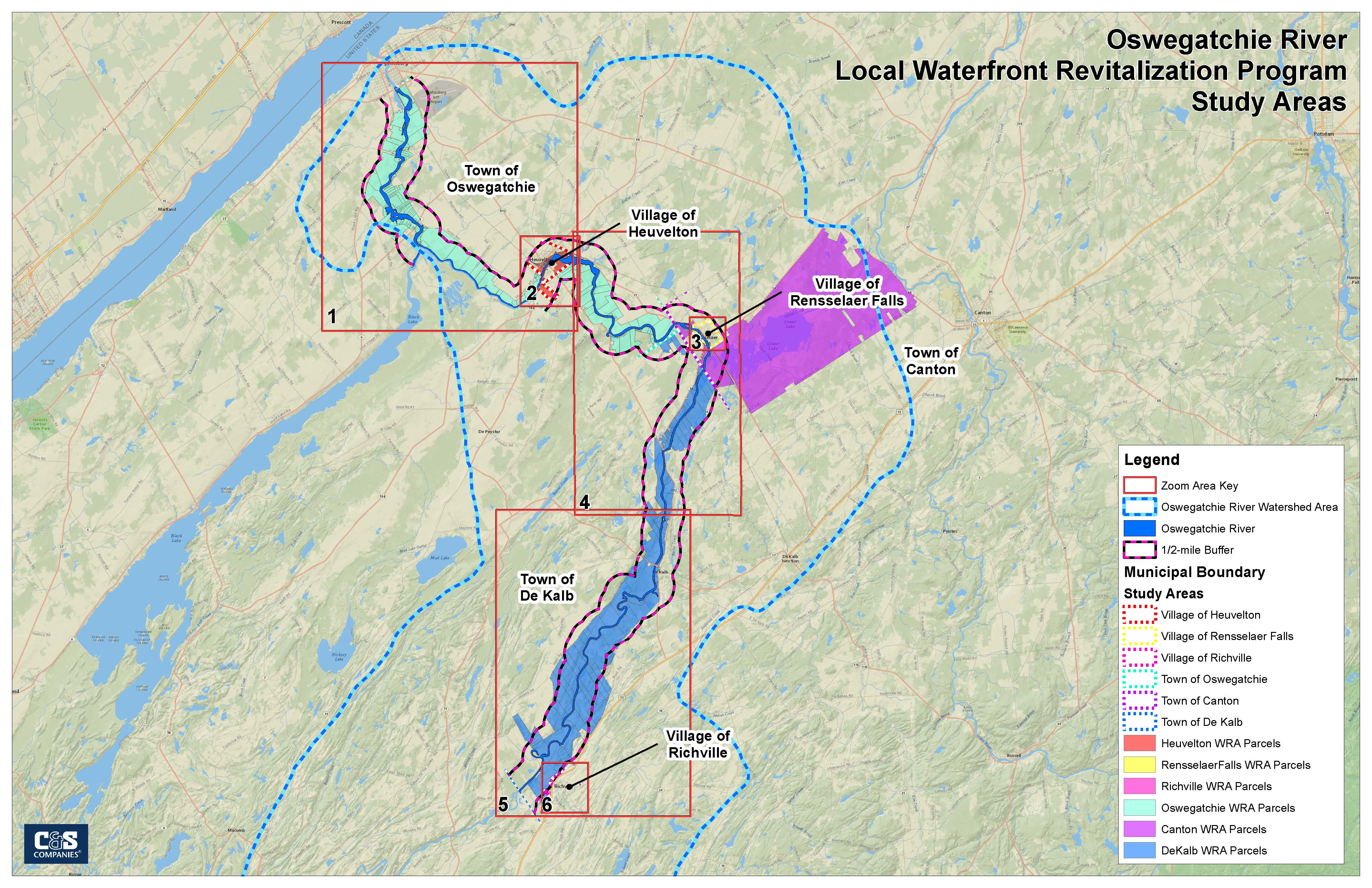 Oswegatchie River Blueway LWRP Part I Proposed Boundary