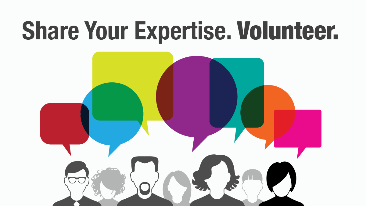Share Your Expertise. Volunteer.