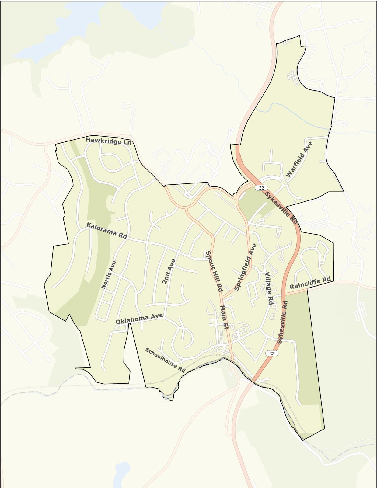 <strong>Town of Sykesville (Municipal Boundary)</strong>