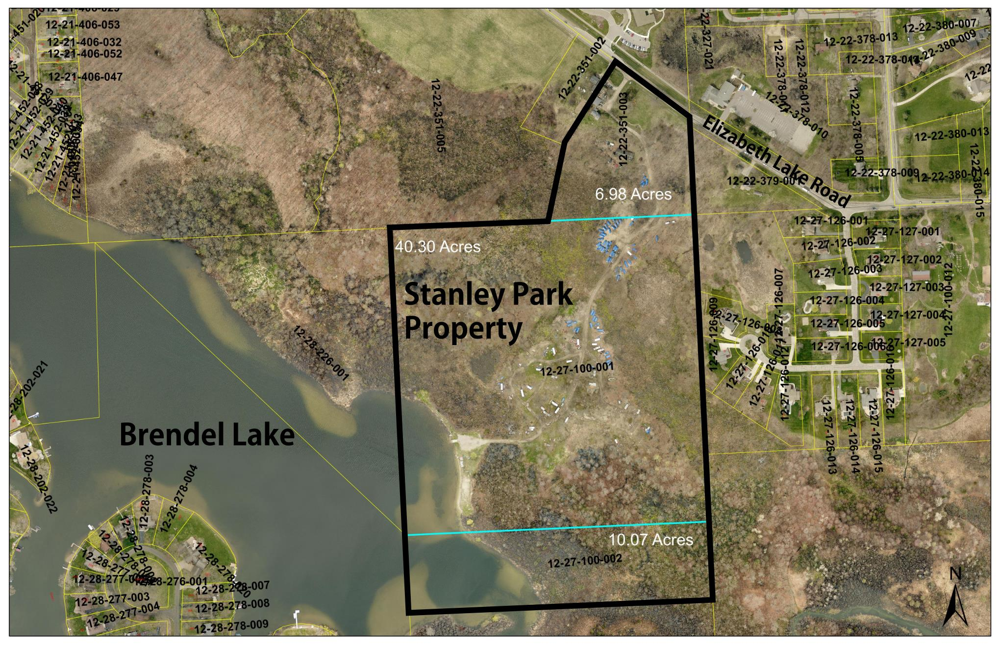 Stanley Park Property Aerial View