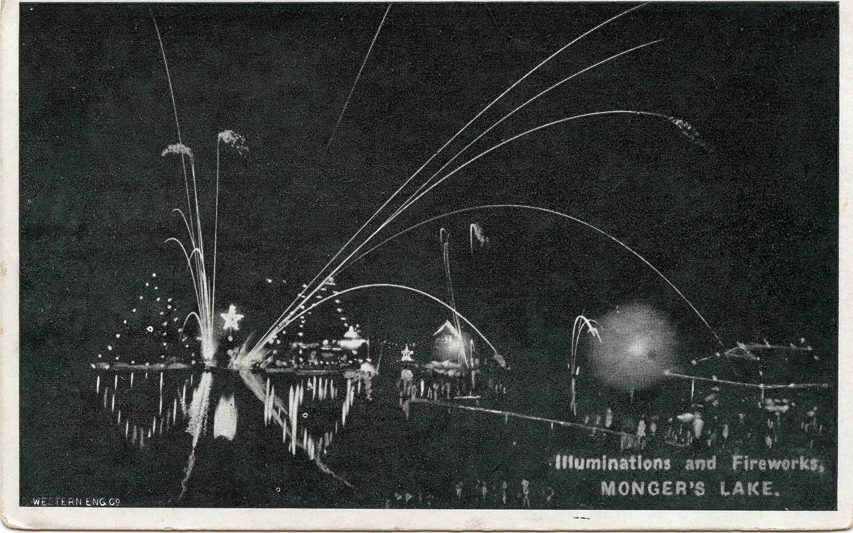 122. Fireworks on Lake Monger, 1910