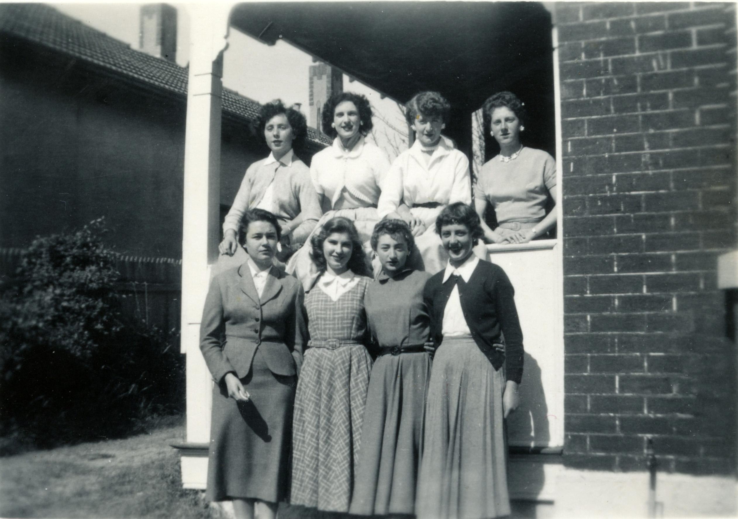 107. St Brigid's students, 1955