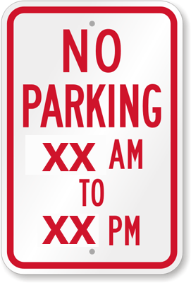 Limited hours for on-street parking