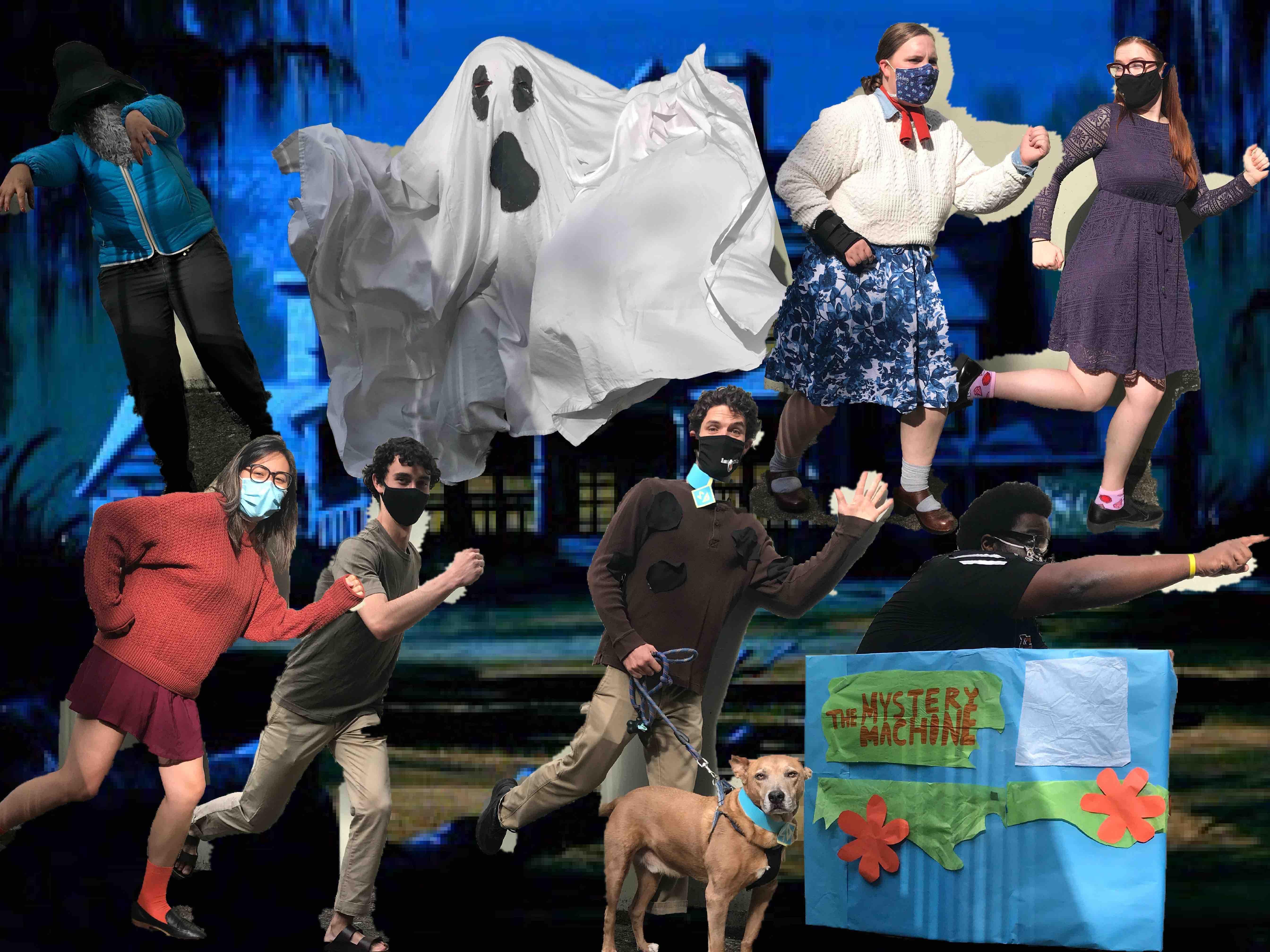 "2. ""The Scooby Gang!"" by Campus Living (Malavika Arun, Juliane Carla Corpus, Bailey Titus, Franchesca Spann, Arielle Valdez, Cody Riggs, Joseph Fastuca (and Kenny the dog), Joe-Barry Gardner)"