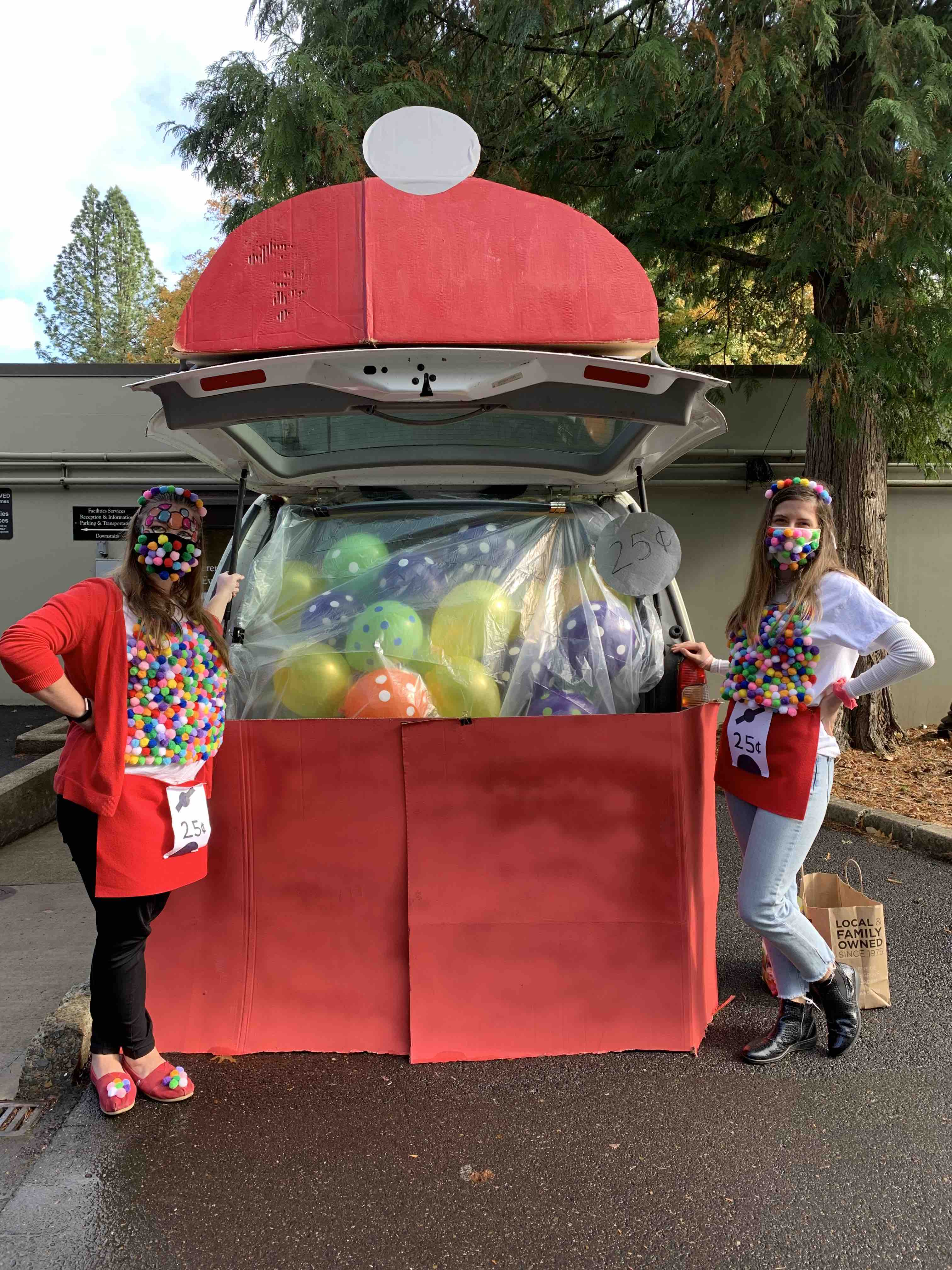 """3. """"Land of Gumballs"""" by Conferences and Events (Cassie Quaglia (Assistant Director), Andrea Previsic (Psychology Major)"""