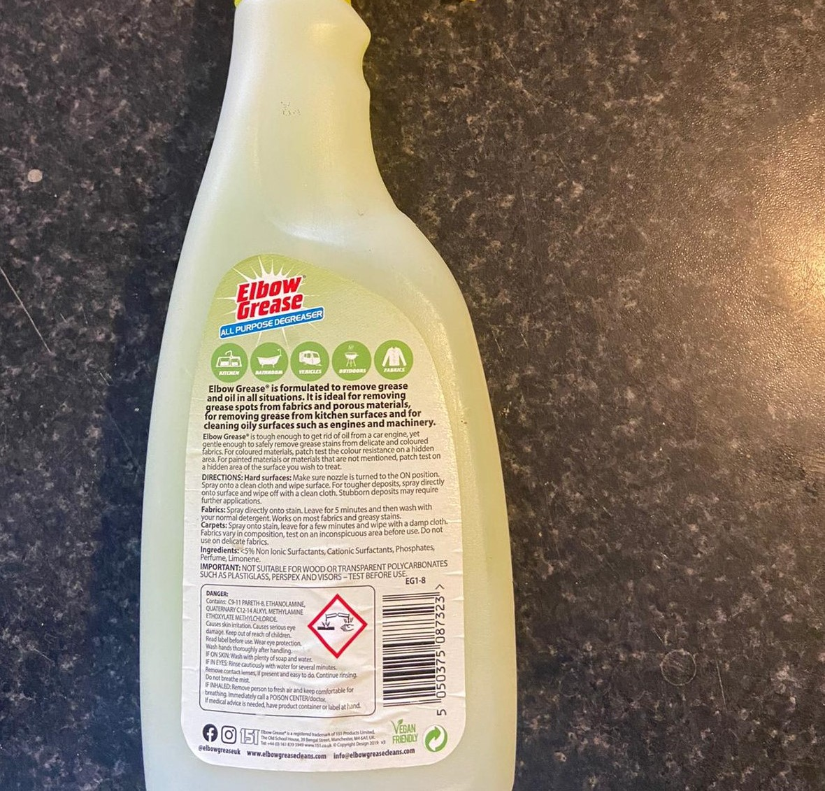 Spray bottle (without nozzles)