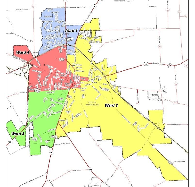 City of Marysville Ward Map