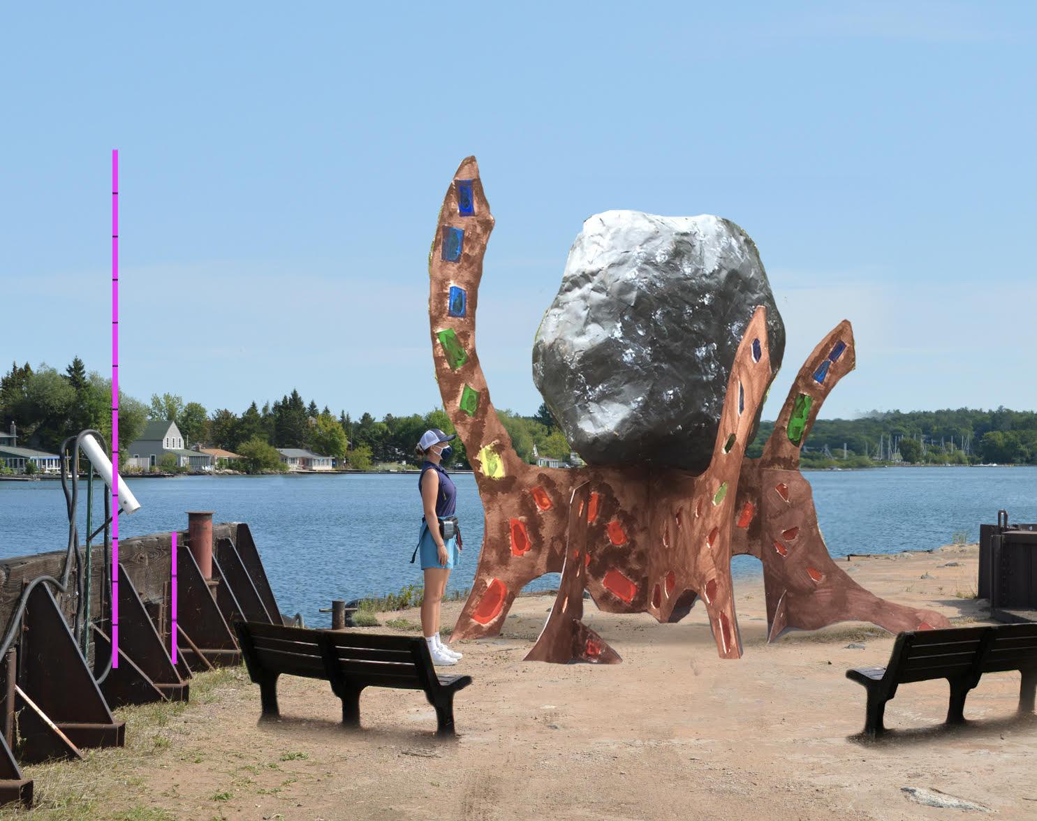 Bob Adam's sculpture on Town Dock