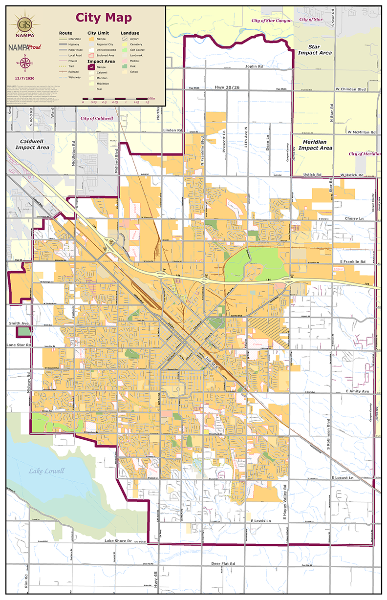 """We encourage all Nampa residents who are paying taxes to the City of Nampa to participate in the survey. <br><br>The below map is of the City of Nampa.<span style=""""color: #ffcc99;""""><strong>Onlythe areas in ORANGE are within Nampa City limits.</strong> </span>The areas in white are NOT in city limits and do not pay taxes to the City of Nampa.<br><br>If you're still not sure, please check your recent tax bill to identify if you live within city limits and are paying taxes to the City of Nampa.You can also<a href=""""https://nampa.maps.arcgis.com/apps/webappviewer/index.html?id=cb6301616c524ae9a599b839e6135f4a"""" rel=""""nofollow"""" target=""""_blank"""">click here</a> to search a zoomable map.<br><br><em>If your household is not within Nampa city limits, but you would like to share your feedback, please email your comments to mayor@cityofnampa.us. Thank you!</em>"""