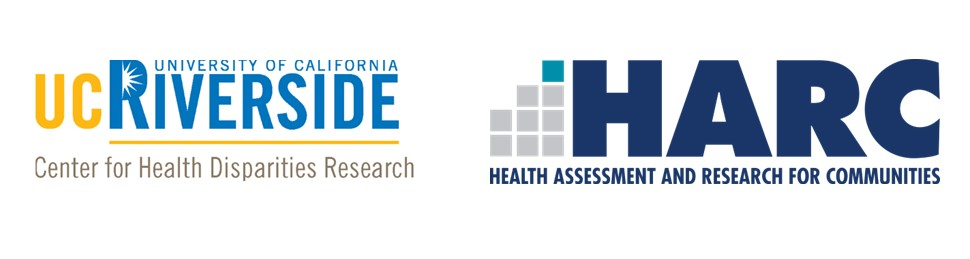 Logos for UC Riverside Centers for Health Disparit