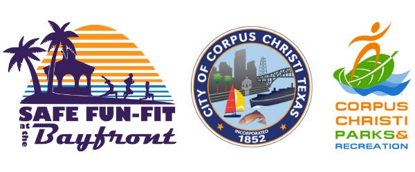 Logos for Safe Fun-Fit at the Bayfront, City of Co