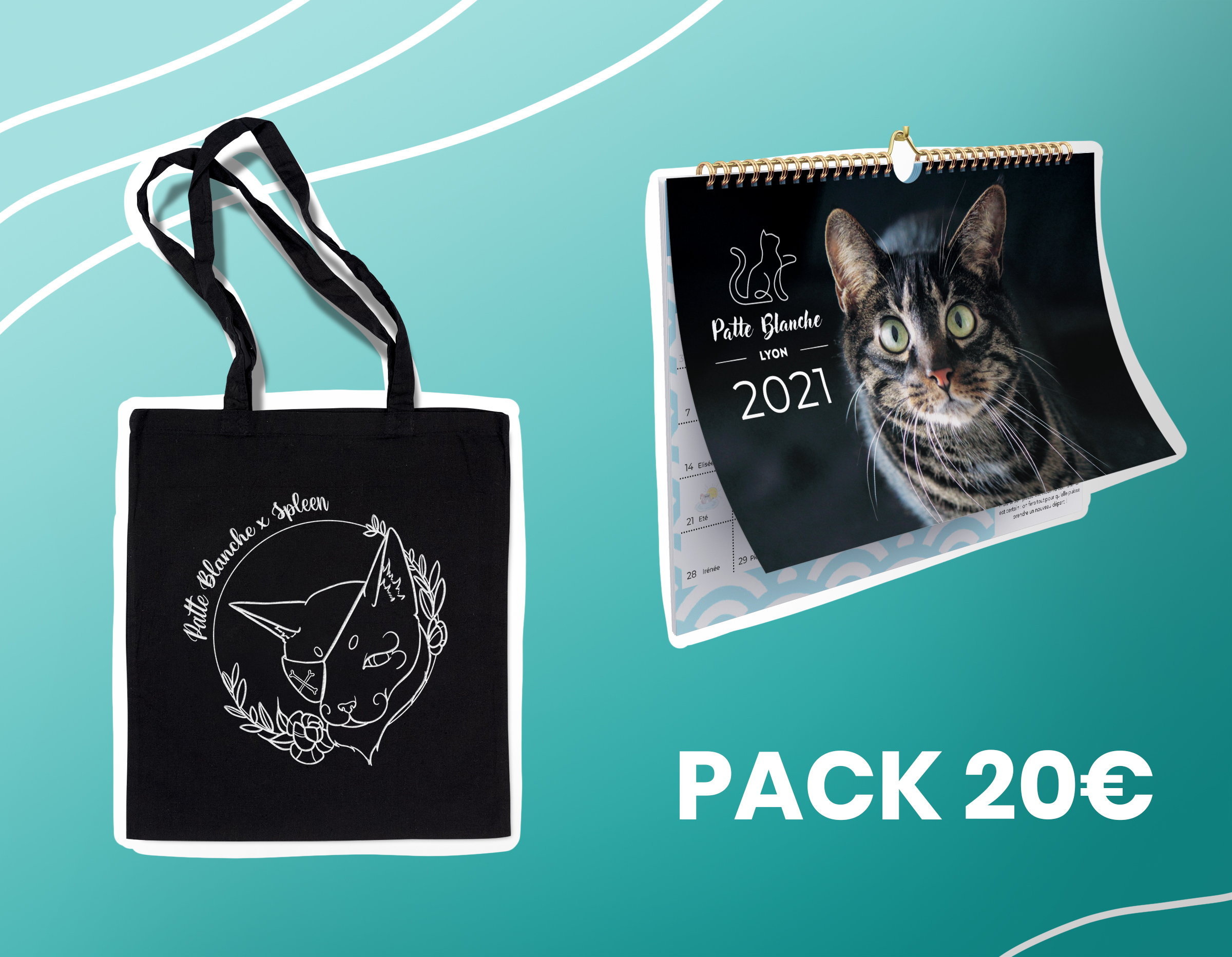 Pack tote + calendrier
