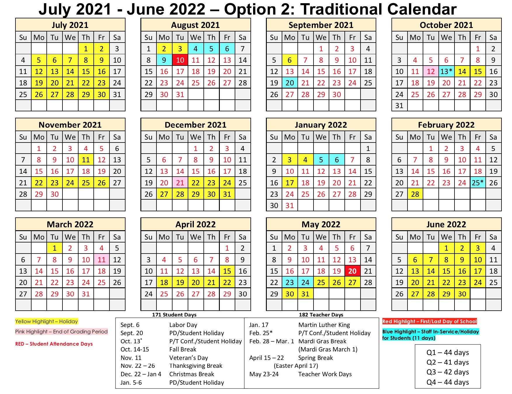 """<div style=""""text-align: center;""""><span style=""""font-size: 18pt;"""">Option 2: Traditional Calendar <br>To download click <a href=""""https://tinyurl.com/RPSBTraditionalCalendar"""" rel=""""nofollow"""" target=""""_blank"""">https://tinyurl.com/RPSBTraditionalCalendar</a></span></div>"""