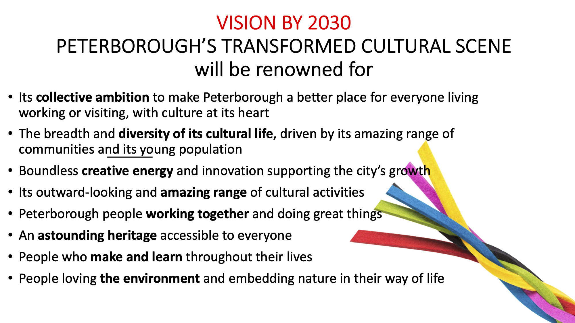 Ambitions for 2030 Peterborough Culture