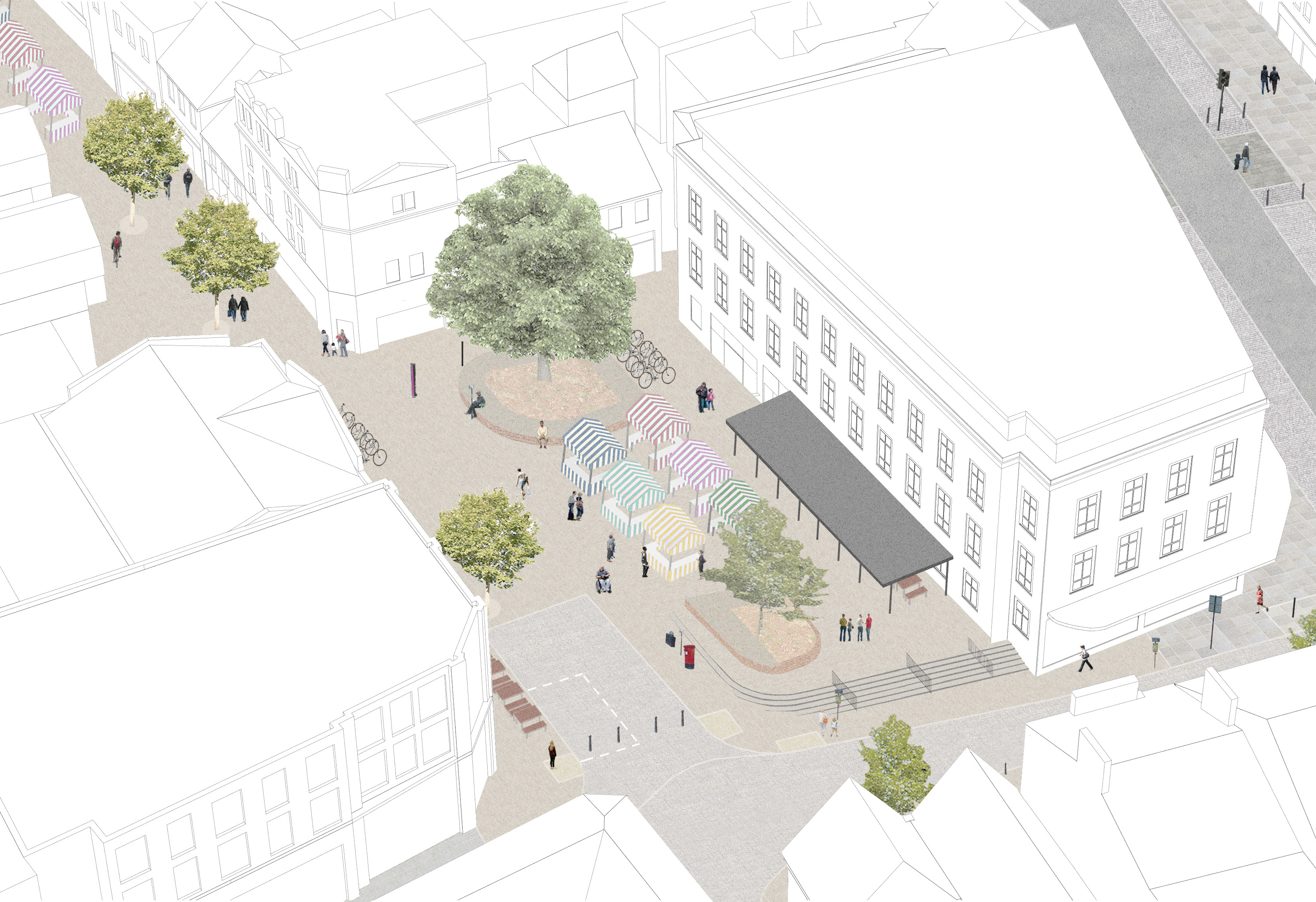Artists impression of the new design for the square
