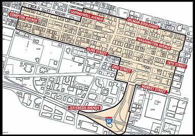 Locust Business District Boundaries