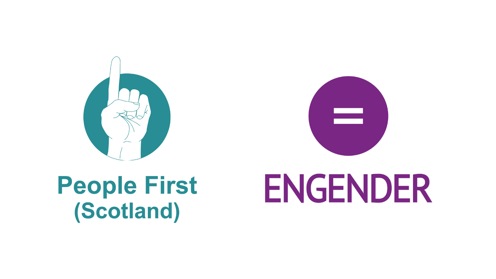 On the left hand side, People First Scotland's log