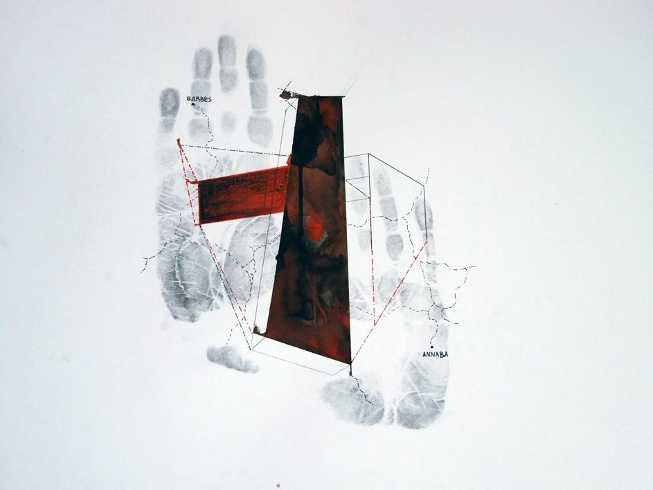 extrait de l'oeuvre de Mounir Gouri Sur les pas des empreintes, 2020