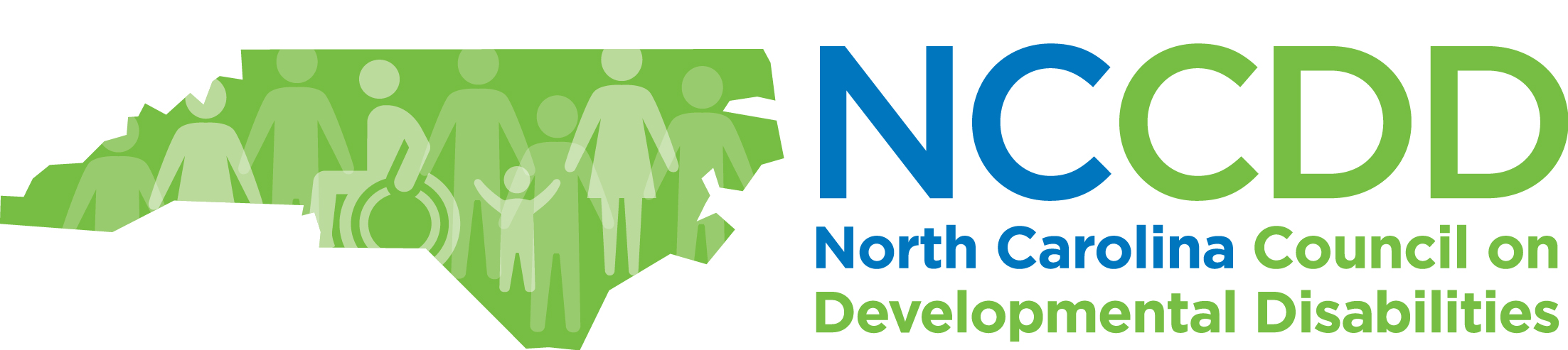 blue and green logo of the stage of north carolina