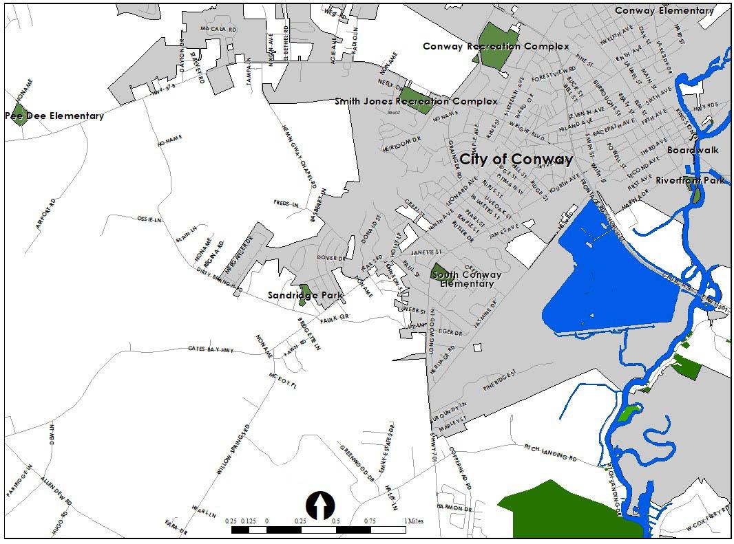 Sandridge Community Park location
