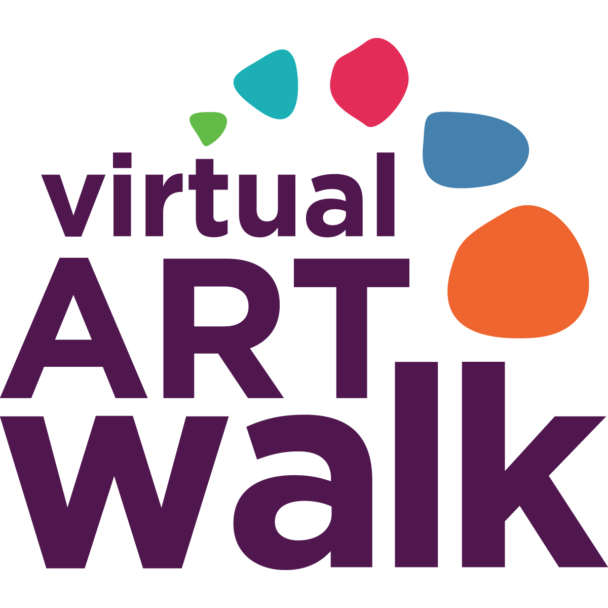 """Block text with the words """"virtual ARTwalk,"""" five"""
