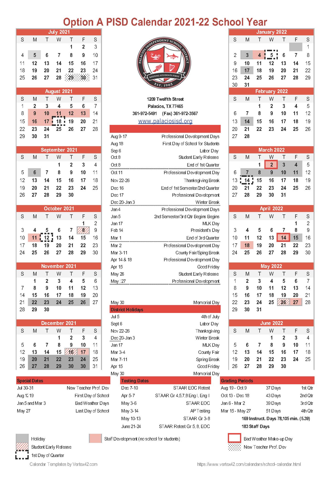 Weather Calendar 2022.2021 2022 Pisd Calendar Survey