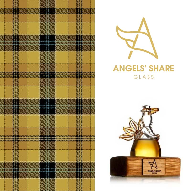 This tartan represents the gold and wood tones.