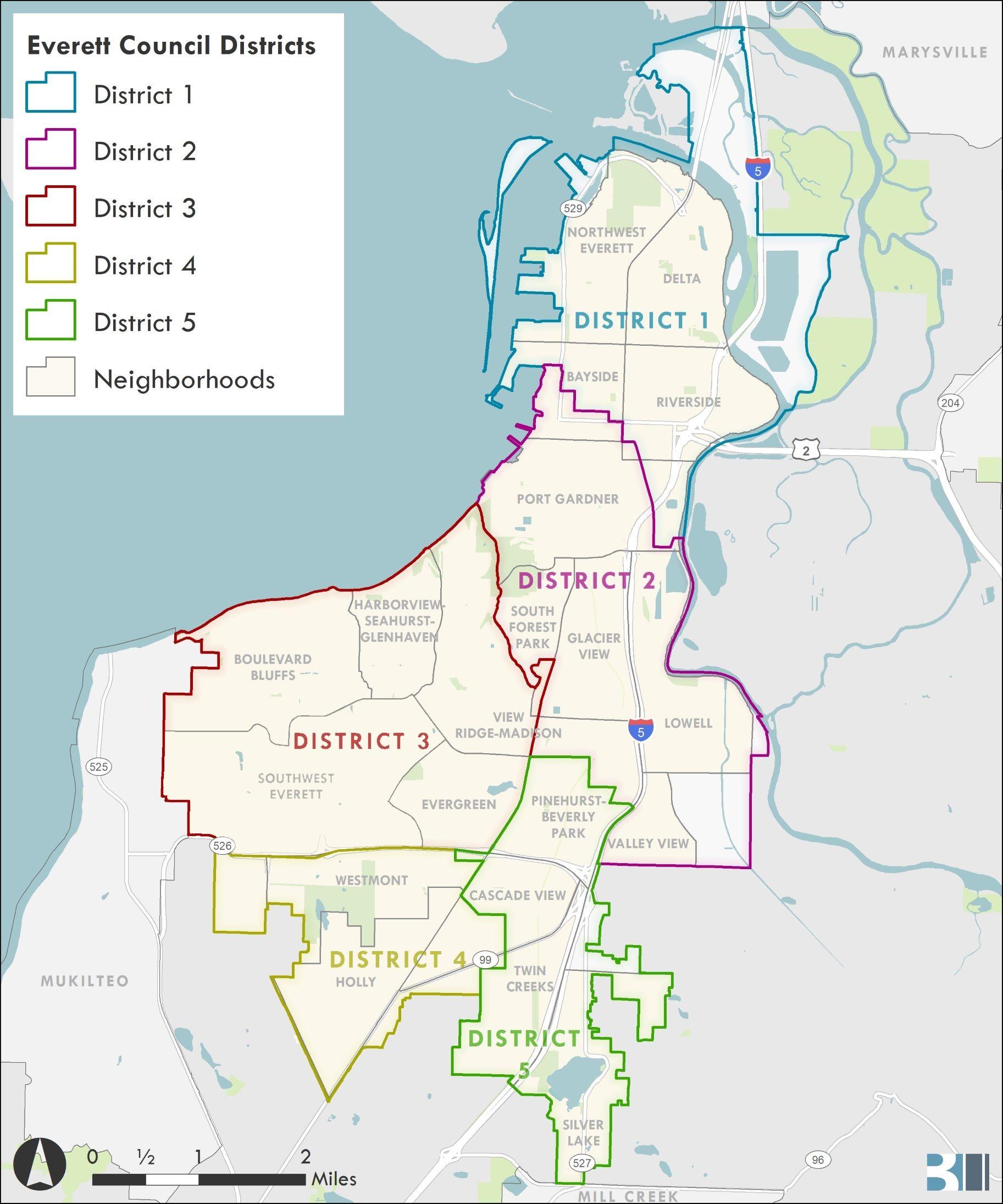 District and Neighborhoods Maps