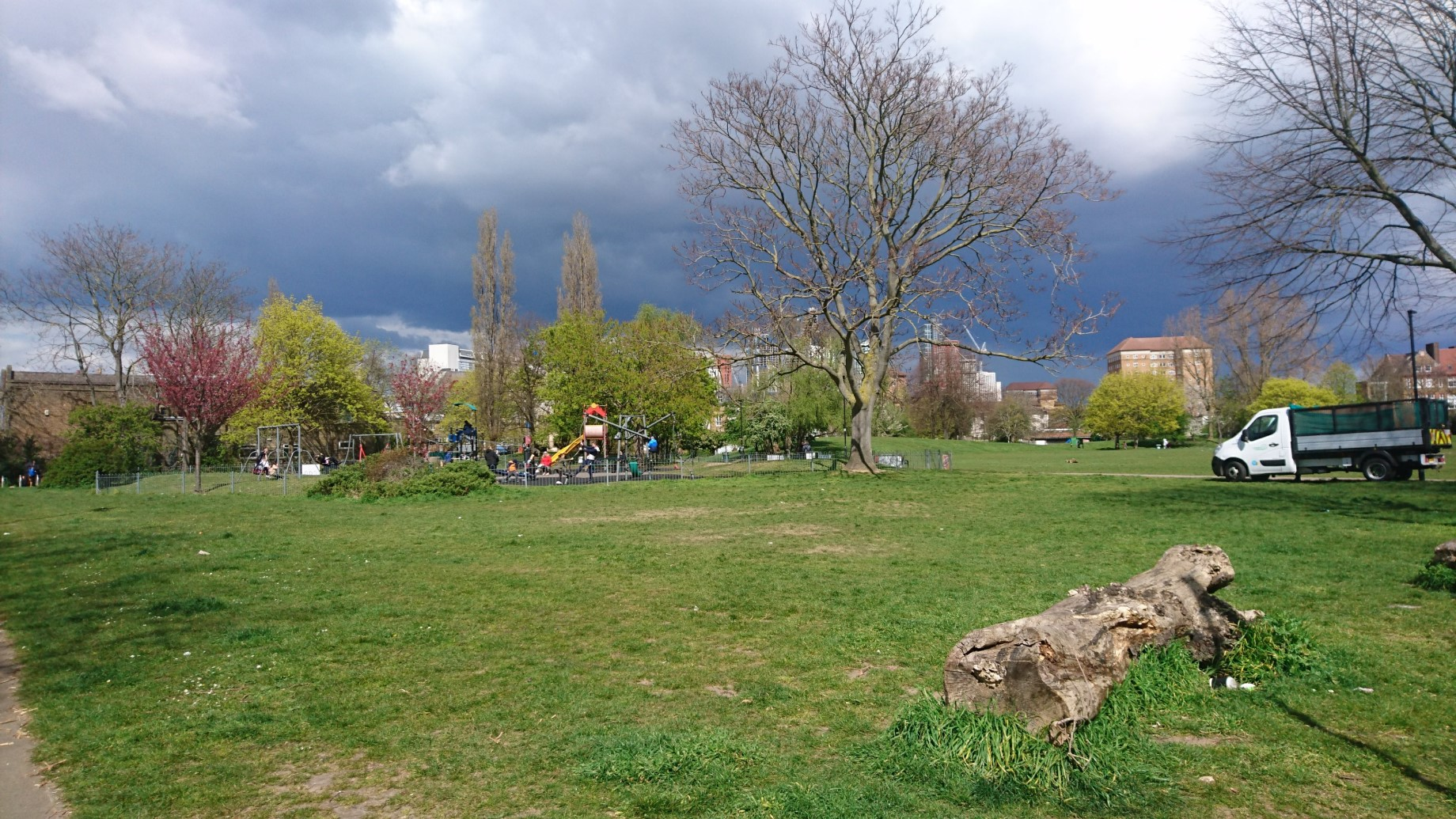 Larkhall park current and proposed play area