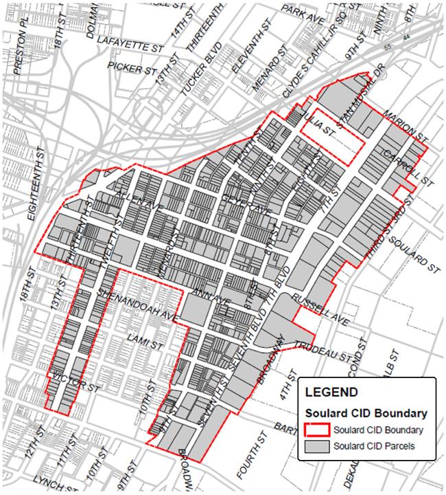 Soulard CID boundary map