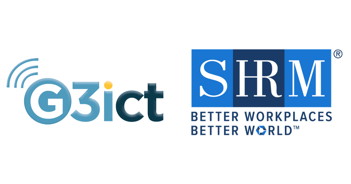 G3ict (left side) and SHRM (right side) Logos