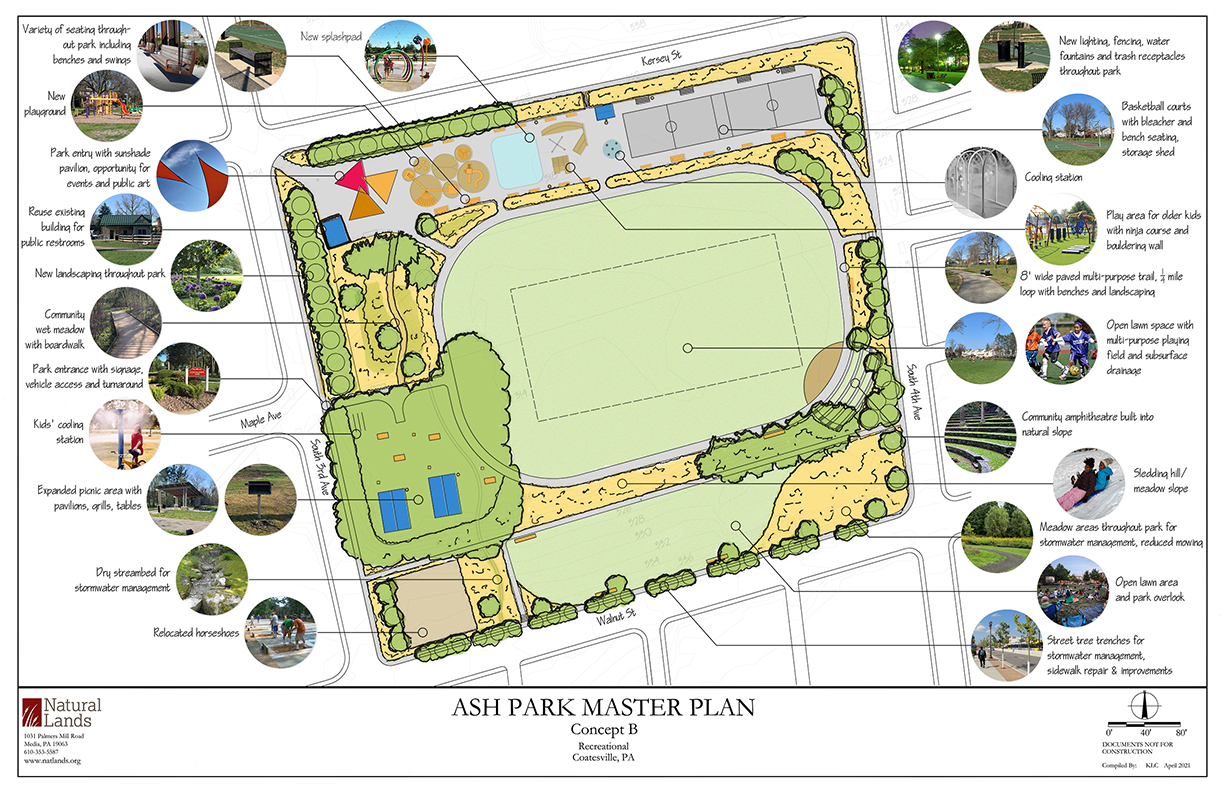 Ash Park Concept B - Recreational