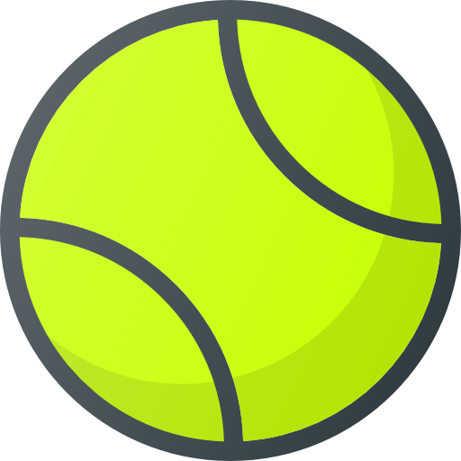 ball that you hit with a racket