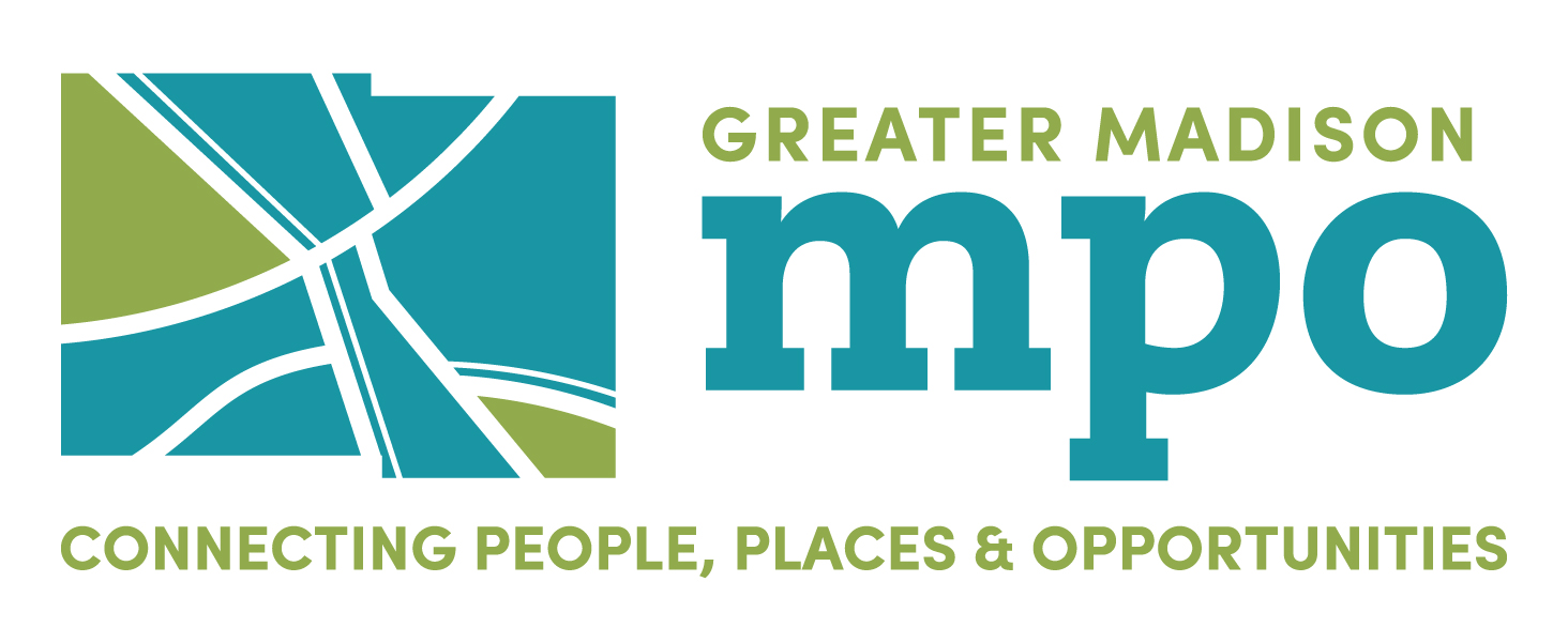 Logo for the Greater Madison MPO. Includes a styli