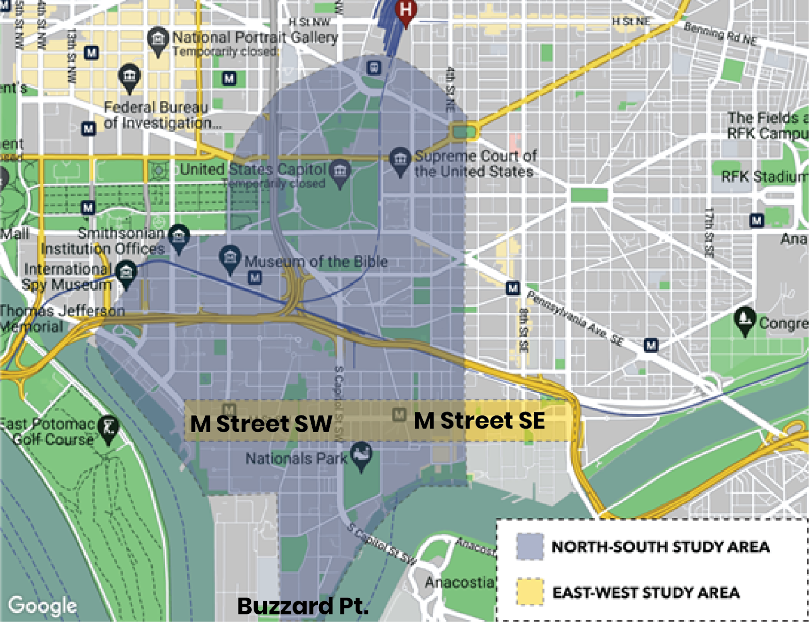 Map of Study Areas