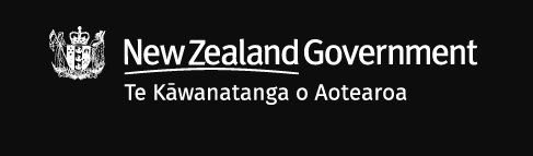 a New Zealand Government banner