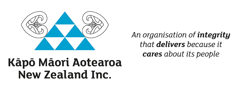 "Kāpō Māori Aotearoa logo and key message ""An organ"