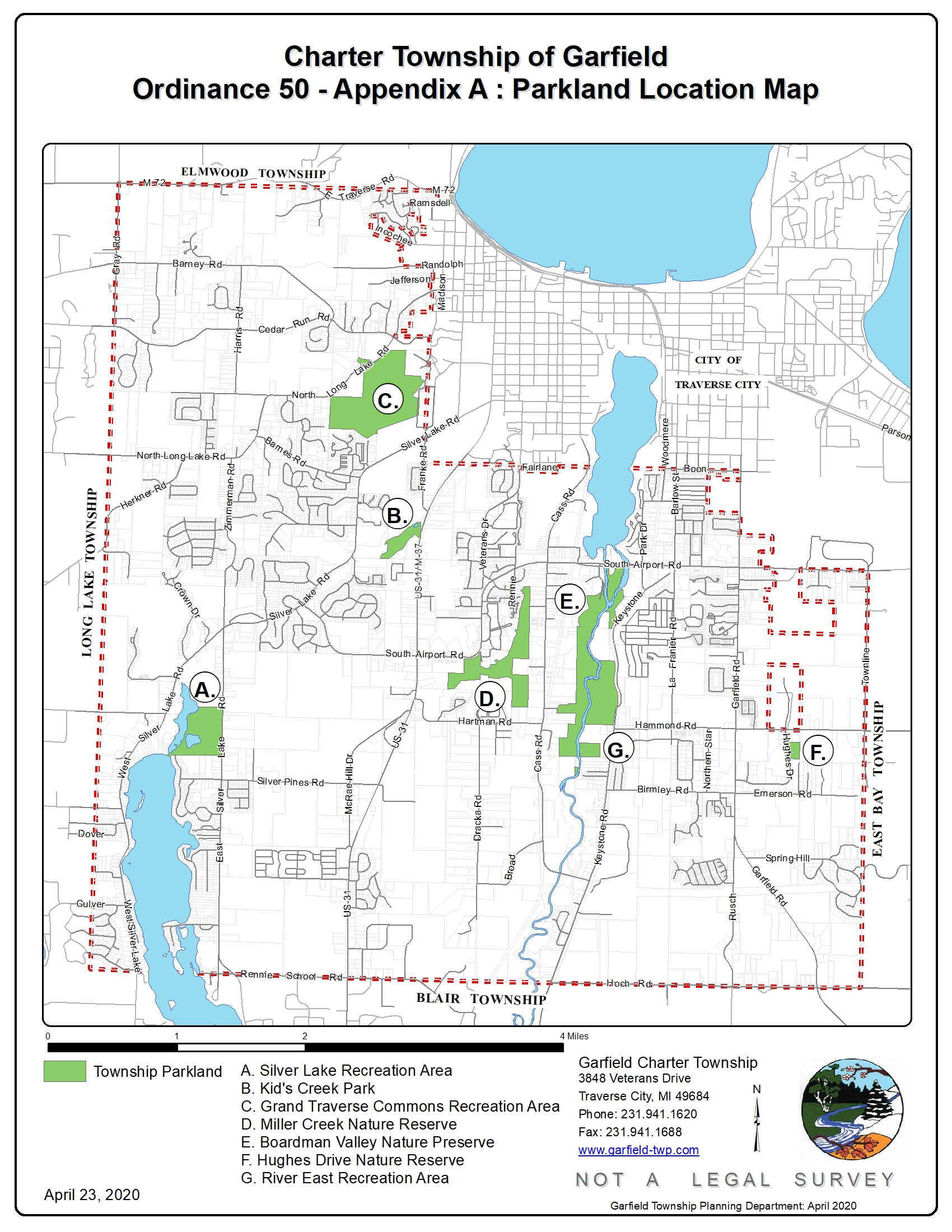 Map of Garfield Township Parks