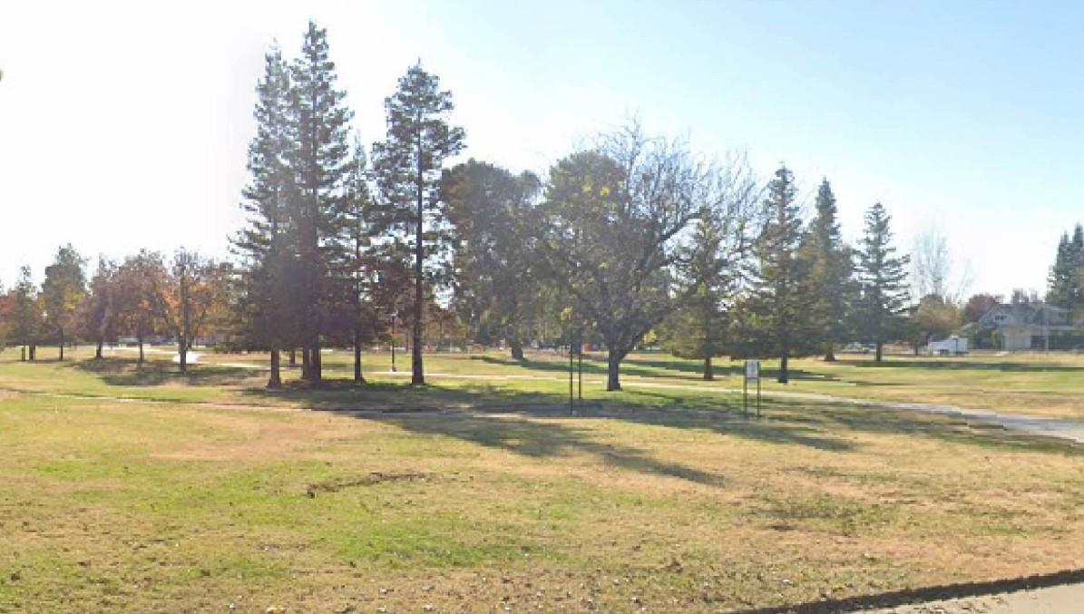 <em>Site of future rain garden at Crawford Park, located at1733 College St.</em>