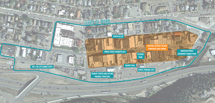 Downtown Master Plan Study Area and Scope of Work