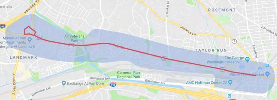 Duke Street In Motion corridor map