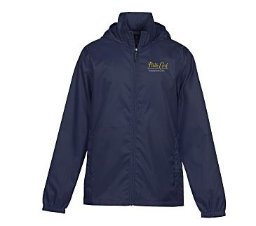 Navy jacket (actual jacket has Cycle for Sight logo embroidered in white on left chest)