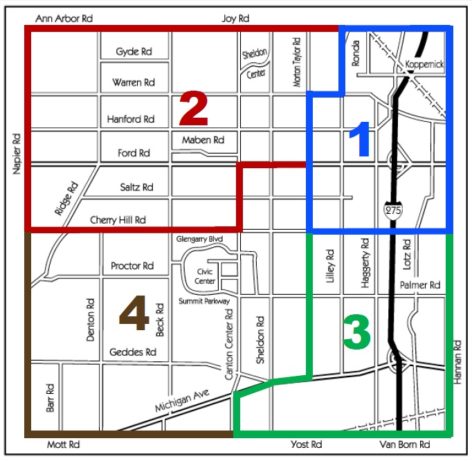 Community Policing Areas Map