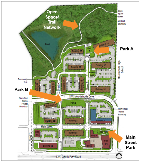 Site map of future parks