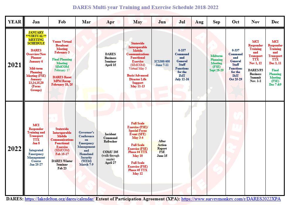 <strong>DARE 2021-2022 Calendar</strong>