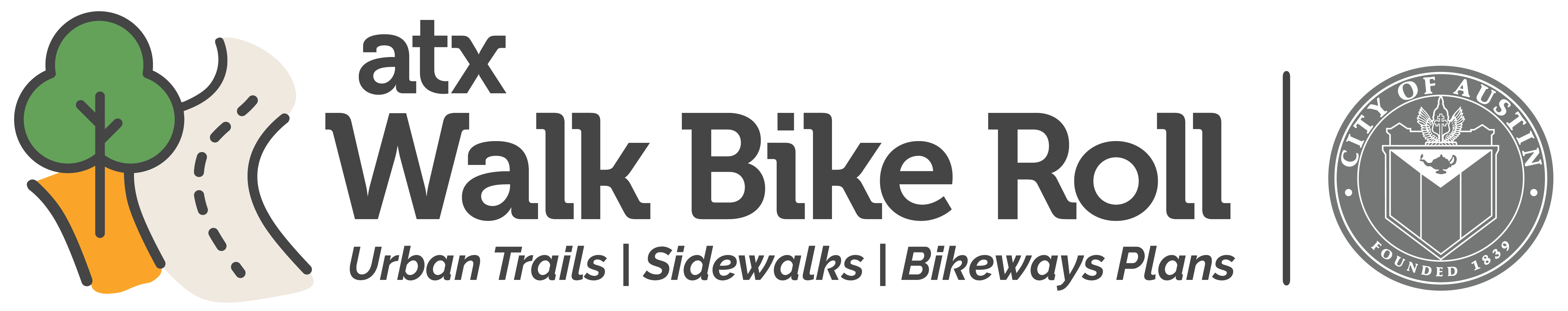 ATX Walk Bike Roll Logo