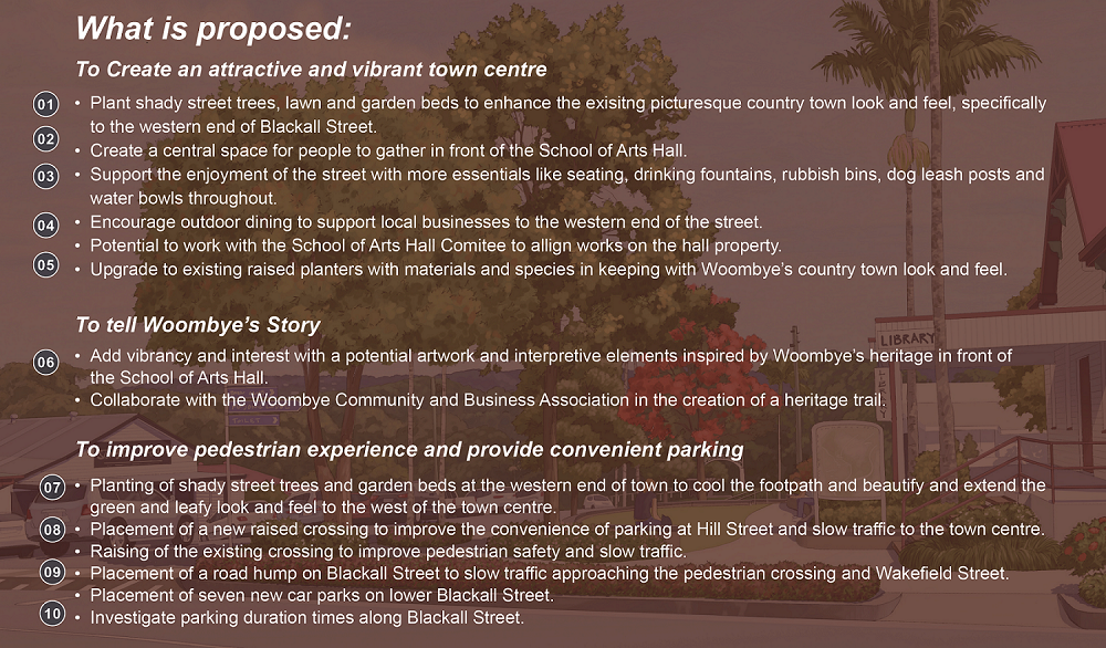 Please read what is proposed for the main street.